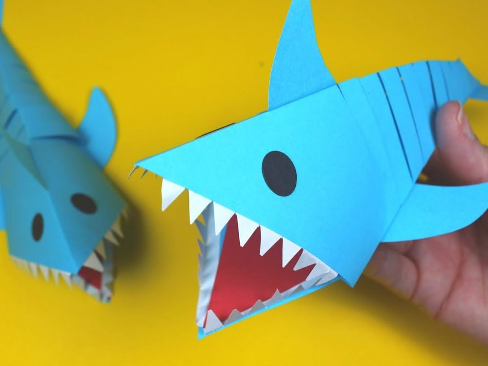 Moving paper sharks